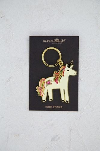 Natural Life: Enamel Keychain - Unicorn