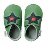 Bobux Soft Soles: Green Astro Star- (Size XL)