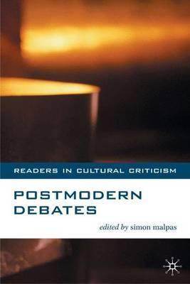 Postmodern Debates by Simon Malpas image