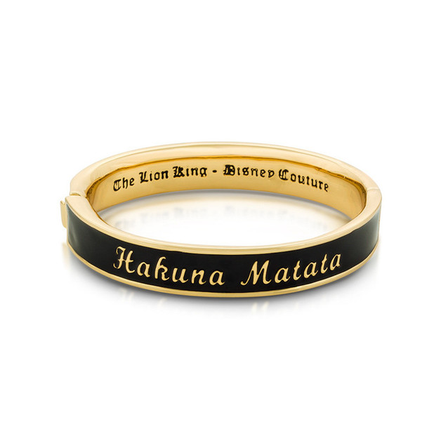Disney The Lion King Hakuna Matata Bangle - Gold
