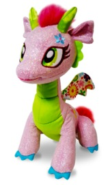 Glitter Shine Dragons: Glimmer Flora Dragon Plush
