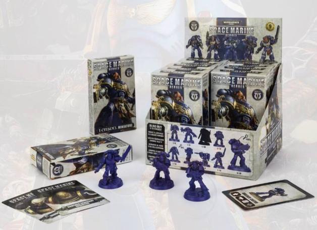 Warhammer 40,000 Space Marine Heroes Blind Box Display