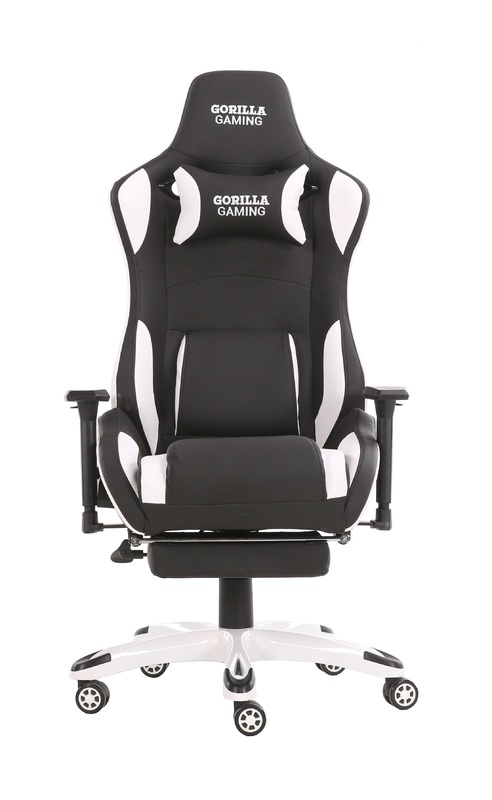 Gorilla Gaming Prime Ape Chair - White & Black for