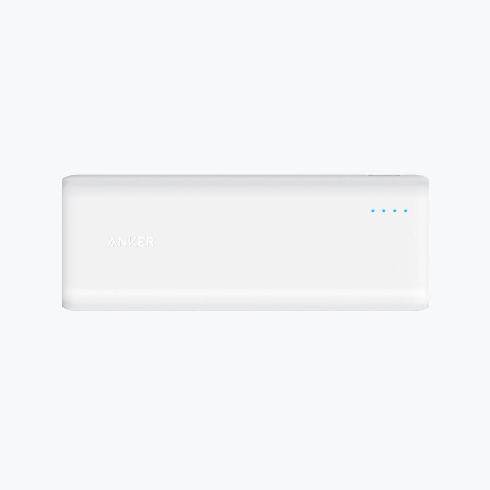 ANKER: PowerCore 20100mAh with 2x PowerIQ 2.4A ports - White image