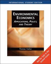 Environmental Economics: Application, Policy, and Theory by Scott Callan image