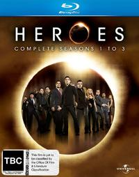 Heroes - Complete Seasons 1 to 3 (15 Disc Set) on Blu-ray