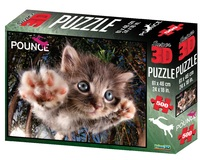 Super 3D: 500-Piece Jigsaw Puzzle - Pounce Cat BamBam