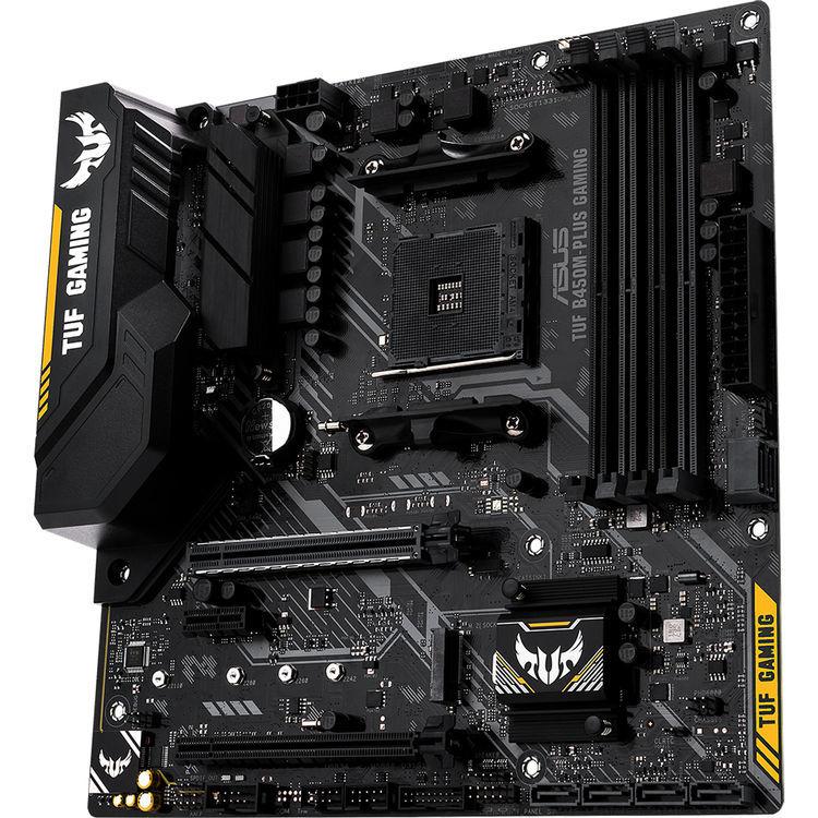 ASUS TUF B450M-PLUS Gaming mATX Motherboard image