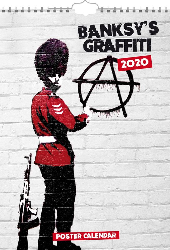 Banksy's Graffiti 2020 A3 Poster Wall Calendar (includes envelope)