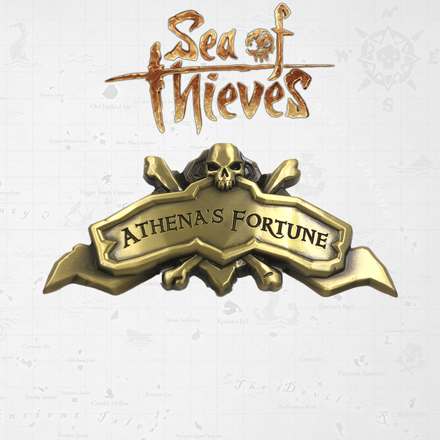 Sea of Thieves: Athena's Fortune Ship - Metal Replica + Map
