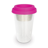 Double Walled Tea Travel Mug (Hot Pink)
