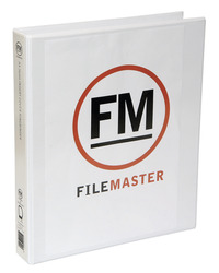 FM A4 Overlay Binder 3/38 Insertable Cover - White