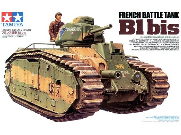 Tamiya 1/35 B1 Bis French Battle Tank - Model Kit