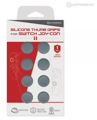 Hyperkin Switch Joy-Con Silicone Thumb Grips 8-Pack (Grey) for Nintendo Switch