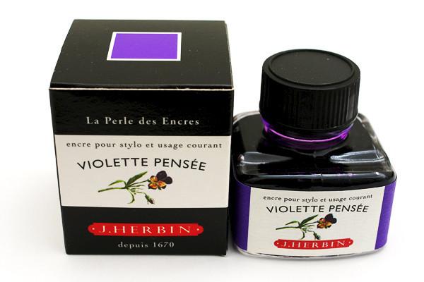J Herbin: Fountain Pen Ink - Violette Pensee (30ml)