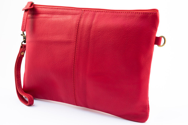 Millenium Paris: Paulette Large Clutch with Floral Lining - Red