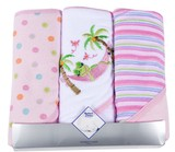 Mother's Choice 3 Pack Hooded Towels - Girls