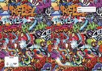 Spencil: A4 Book Cover - Rebel Graffiti