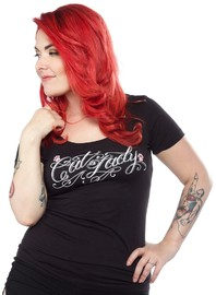 Sourpuss Cat Lady Scoop Tee (Medium)