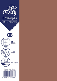Envelope C6 Copper - 114x162mm (Pack 25)