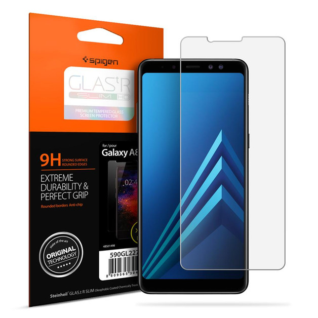 Spigen Galaxy A8 (2018) Premium Tempered Glass Screen Protector