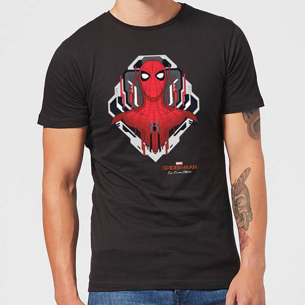 Spider Man Far From Home Web Tech Badge Men's T-Shirt - Black - L