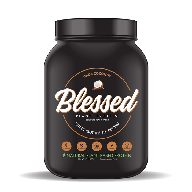 Blessed Plant Based Protein Powder - Choc Coconut (30 Serves)