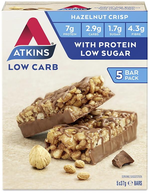 Atkins Day Break Bars - Chocolate Hazelnut Crisp (Box of 5) image
