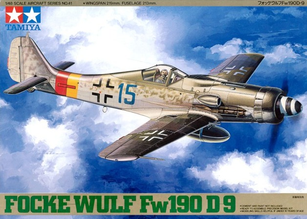 Tamiya: 1/48 Focke Wulf Fw190d9 - Model Kit