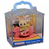 Sylvanian Families: Family Life Baby Carry Case - Rabbit on Rocking Horse