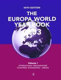 Europa World Year Bk 2003 V1 image