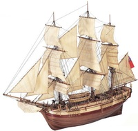 HMS Bounty Wooden Ship 1:48 Model Kit