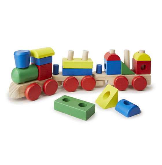 Melissa & Doug: Wooden Stacking Train