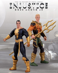 Injustice Gods Among Us: Aquaman vs Black Adam Action Figure Set