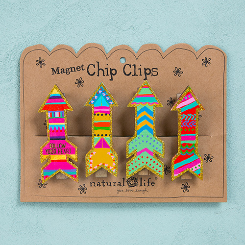 Natural Life: Magnet Chip Clip - Arrows (Set of 4)