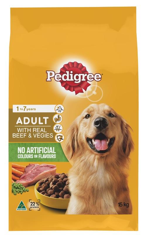 Pedigree Adult With Real Beef & Vegies (15kg)