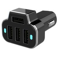 Ape Basics 4-Port USB Phone Car Charger