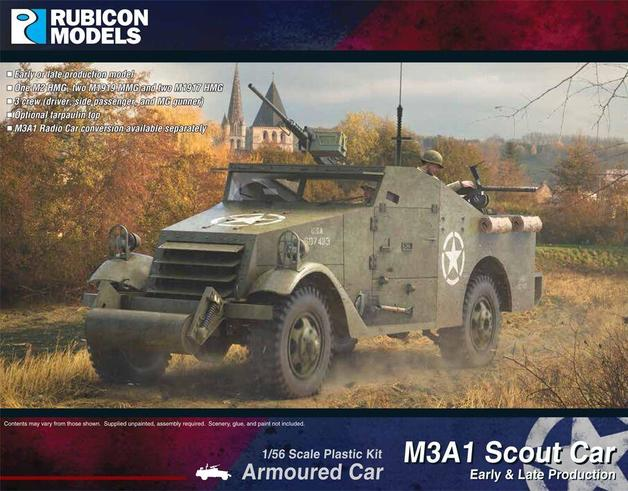 Rubicon 1/56 M3A1 Scout Car (Early & Late production)