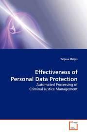 Effectiveness of Personal Data Protection by Tatjana Matjas image