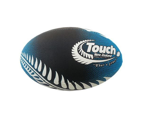 Silver Fern Touch Rugby Ball - Midnight Blue (Size 4)