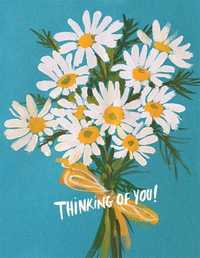 Red Cap: Card Vintage Daisy - Thinking of You