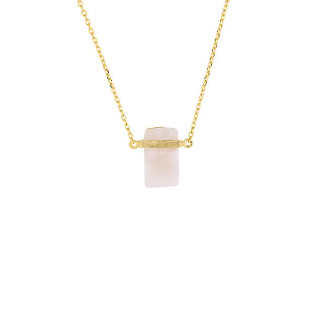 Short Story: Necklace Simple Stone Rosequartz
