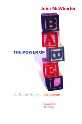 The Power Of Babel by John H McWhorter image