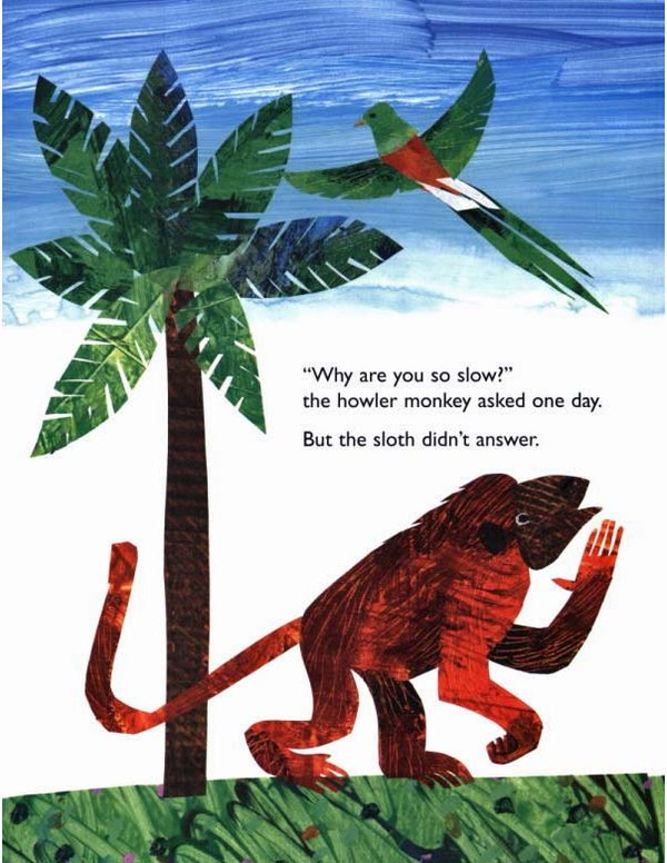 Slowly, Slowly, Slowly, Said the Sloth by Eric Carle image