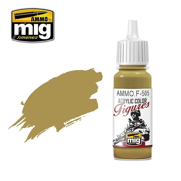 Ammo of Mig Jimenez Figure Paint: Pale Yellow Green FS-33481 (17ml)