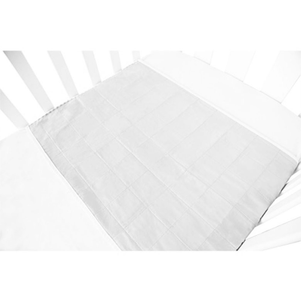 Brolly Sheet Cot Pad with Wings - White image