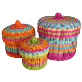 Woven Storage Baskets (Lidded)