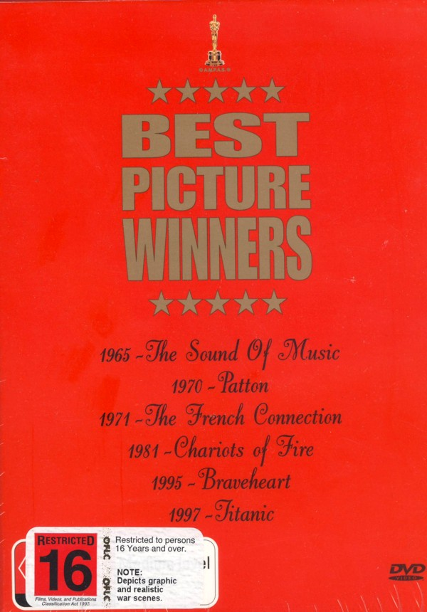 Best Picture Winners Box Set: Titanic, The Sound Of Music, The French Connection, Braveheart, Patton, Chariots Of Fire (6 Disc) on DVD image