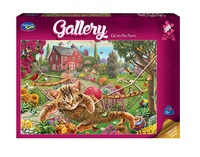 Holdson: 300pce Gallery Series 4 XL Puzzle (Cat On The Farm)