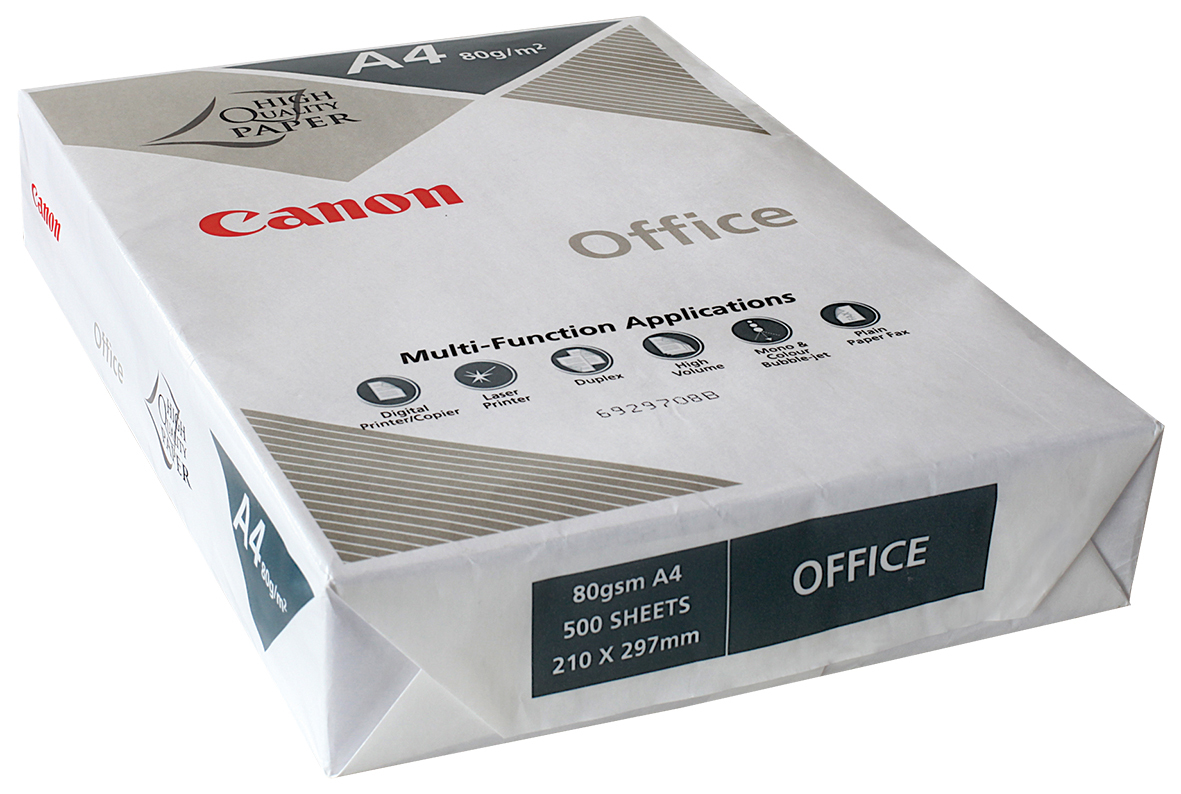 Canon A4 80GSM White Photocopy Paper - 1 Ream (500 Sheets) image